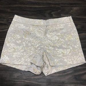 Metallic Gold and Cream J Crew Shorts